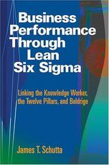 Business Performance Through Lean Six Sigma 0 9780873896580 0873896580