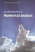 An Introduction to Numerical Analysis 1st Edition 9780521007948 0521007941