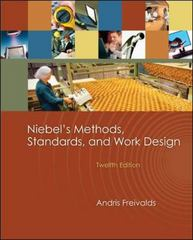 Niebel's Methods, Standards, &amp. Work Design 12th edition 9780073376318 0073376310