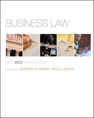 Business Law with UCC Applications Student Edition 12th edition 9780073524948 0073524948