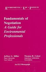 Fundamentals of Negotiation 0 9780911937282 0911937285