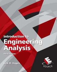 Introduction to Engineering Analysis 3rd edition 9780136017721 013601772X