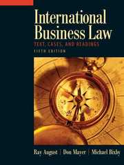 International Business Law 5th edition 9780136008644 013600864X