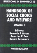 Handbook of Social Choice and Welfare 1st edition 9780444829146 0444829148