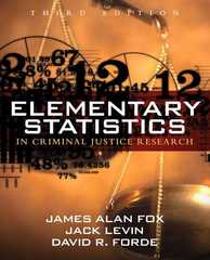 Elementary Statistics in Criminal Justice Research 3rd edition 9780205594399 0205594395