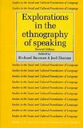 Explorations in the Ethnography of Speaking 2nd edition 9780521379335 0521379334