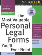 The Most Valuable Personal Legal Forms You'll Ever Need 2nd edition 9781572483606 1572483601