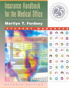 Insurance Handbook for the Medical Office Student Workbook 7th edition 9780721695198 0721695191