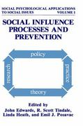 Social Influence Processes and Prevention 1st edition 9780306432934 0306432935