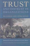 Trust and Distrust In Organizations 1st Edition 9780871544858 0871544857