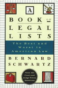 A Book of Legal Lists 0 9780195109610 0195109619