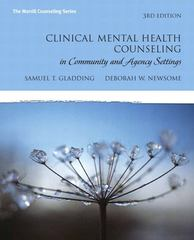 Clinical Mental Health Counseling in Community and Agency Settings 4th Edition 9780132851039 0132851032