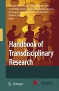 Handbook of Transdisciplinary Research 1st edition 9781402066986 1402066988