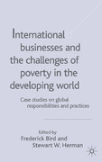 International Businesses and the Challenges of Poverty in the Developing World 1st Edition 9780230522503 0230522505
