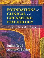 Foundations of Clinical and Counseling Psychology 4th Edition 9781577664109 1577664108