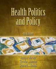 Health Politics and Policy 4th Edition 9781133007036 1133007031