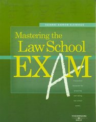 Mastering the Law School Exam 1st Edition 9780314162816 031416281X
