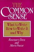 The Common Sense 1st Edition 9780867090796 0867090790