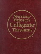 Merriam-Webster's Collegiate Thesaurus 2nd edition 9780877791690 0877791694