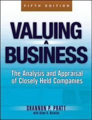 Valuing a Business, 5th Edition 5th Edition 9780071441803 0071441808