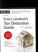 Every Landlord's Tax Deduction Guide 4th edition 9781413307214 1413307213