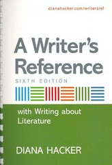 A Writer's Reference with Writing about Literature 6th edition 9780312470982 0312470983