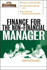 Finance for Non-Financial Managers 1st edition 9780071413770 0071413774