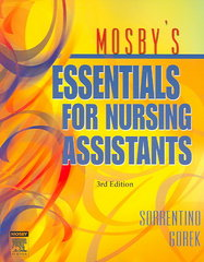 Mosby's Essentials for Nursing Assistants 3rd edition 9780323039048 0323039049