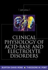 Clinical Physiology of Acid-Base and Electrolyte Disorders 5th edition 9780071346825 0071346821
