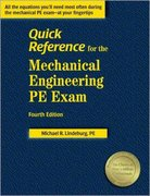 Quick Reference for the Mechanical Engineering PE Exam 4th edition 9781888577808 1888577800