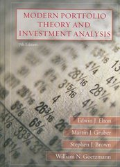 Modern Portfolio Theory and Investment Analysis 7th edition 9780470050828 0470050829