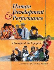 Human Development and Performance Throughout the Lifespan 1st Edition 9780766842601 0766842606