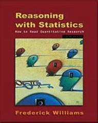 Reasoning With Statistics 5th edition 9780155068155 0155068156