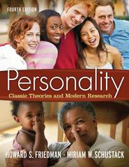 Personality 4th edition 9780205579686 020557968X