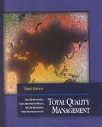 Total Quality Management 3rd edition 9780130993069 0130993069