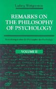 Remarks on the Philosophy of Psychology, Volume 2 2nd edition 9780226904375 0226904377