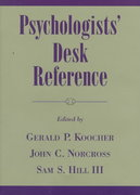 Psychologists' Desk Reference 0 9780195111866 0195111869
