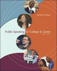 Public Speaking for College Career 8th Edition 9780073534237 0073534234