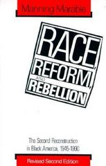 Race, Reform and Rebellion 2nd edition 9780878054930 0878054936