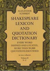 Shakespeare Lexicon and Quotation Dictionary 3rd Edition 9780486227276 0486227278