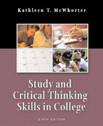 Study and Critical Thinking Skills in College 6th edition 9780321276483 0321276485