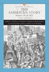 American Story, The, Volume I, (Penguin Academics Series) 3rd edition 9780321421845 0321421841