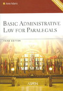 Basic Administrative Law for Paralegals 3rd edition 9780735557482 0735557489