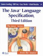 The Java Language Specification 3rd edition 9780321246783 0321246780