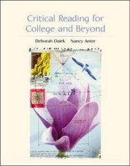 Critical Reading for College and Beyond 1st edition 9780072473766 0072473762