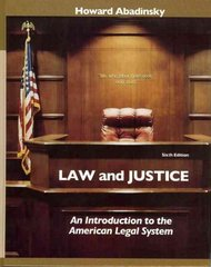 Law and Justice 6th edition 9780132328630 0132328631