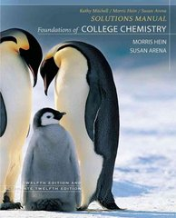 Foundations of College Chemistry, Student Solutions Manual 12th edition 9780470067178 0470067179