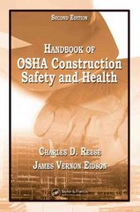 Handbook of OSHA Construction Safety and Health, Second Edition 2nd Edition 9780849365461 0849365465