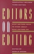 Editors on Editing 3rd Edition 9780802132635 0802132634