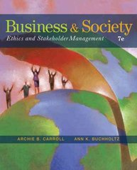 Business and Society 7th edition 9780324569391 0324569394